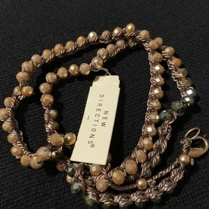 Tan and Gray Bracelet